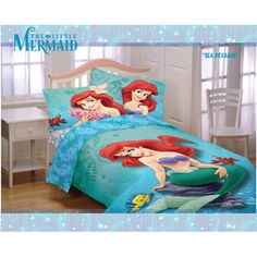 Since it is spring time, I better put on my Little Mermaid sheets!!!
