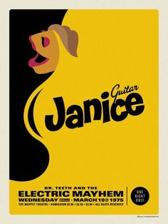 MUPPETS Electric Mayhem Janice poster by by illustractiongallery