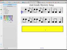 "Music- making a ""highlighter"" bar on smart board. cool elem music blog"