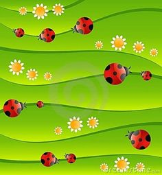 ladybug background pictures | Green Background With Small Ladybug Royalty Free Stock Photo - Image ...
