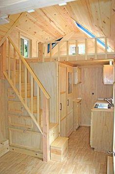 Genius loft stair for tiny house ideas (79)