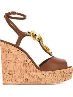 Shop Giuseppe Zanotti Design floral embellished wedge sandals in Mayurka from the world's best independent boutiques at farfetch.com. Shop 400 boutiques at one address.