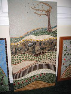Mosaic tree on a windswept dune.