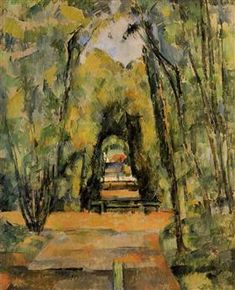 The Alley at Chantilly - Paul Cezanne