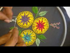 Hand embroidery- Fantasy embroidery design. - YouTube