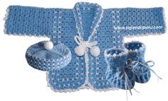 Tutorial: ropón o chaquetita para bebé tejida a crochet!