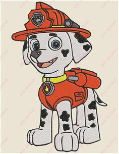 Excited to share the latest addition to my #etsy shop: Marshall Paw Patrol 03 Filled Embroidery Design - Instant Download http://etsy.me/2jN6nu3