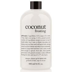 philosophy 'coconut frosting' shampoo, shower gel & bubble bath (74 MYR) ❤ liked on Polyvore featuring beauty products, bath & body products, body cleansers, beauty, fillers, makeup, coconut frosting and bubble bath
