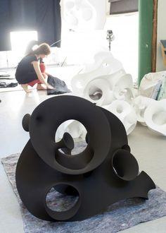 Eva Hild   ceramic stoneware  5.In the studio2011