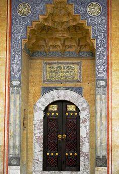 Door of Gazi Husrev-beg Mosque, Sarajevo, Bosnia and Herzegovina