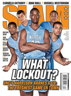 SLAM 153: UNC Tarheels Dexter Strickland, Tyler Zeller, Harrison Barnes, John Henson and Kendall Marshall appeared on the cover of the 153rd issue of SLAM Magazine (2011).