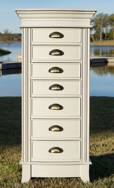 Hillary Jewelry Armoire ~ White  |  Hives and Honey