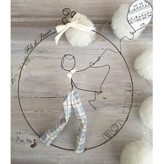 Mon ange wire art creation for kids