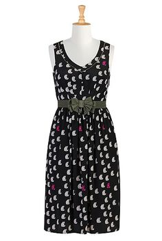 I just bought this. The Cool cat dress from eShakti. #dresses #clothes #fashions #crazycatlady