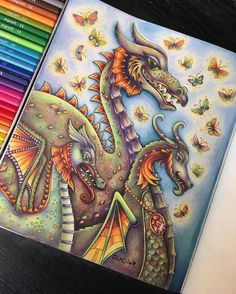 """64 Likes, 18 Comments - Gudrun Ranzinger (@gundiwr) on Instagram: """"✨The three dragons✨from Ivy and the Inky Butterflythe wonderful new book from Johanna…"""""""