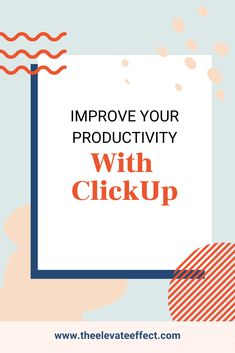 5 ideas to improve productivity at work! ClickUp is a project management tool that allows your team to create, plan, and organize all in one space. With this platform, you'll throw away the yellow sticky notes spread across your desk and may even find you no longer need other platforms thanks to ClickUp's ability to handle several different tasks. Head to the blog to learn more about how to be more organized at work and find 5 productivity tips to stay focused. Business Marketing, Content Marketing, Online Marketing, Online Business, Business Templates, Online Entrepreneur, Starting A Business, Creative Business, Entrepreneurship