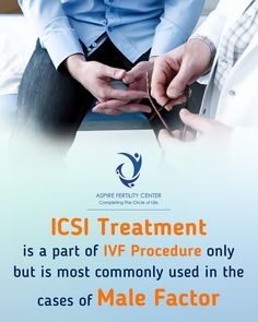 ICSI treatment is a part of IVF procedure only but is most commonly used in the cases of Male factor. Ivf Procedure, Ivf Center, Fertility Center, Male Infertility, Pcos, Getting To Know, Cases, Life