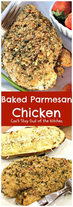 Baked Turkey Cutlet Parmesan - Can't Stay Out of the Kitchen Turkey Tenderloin, Turkey Cutlets, Parmesan Recipes, Baked Chicken Recipes, Fried Chicken, Low Calorie Baking, Salad With Balsamic Dressing, Baked Turkey, Parmesan Crusted Chicken
