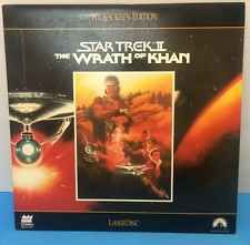 Laserdisc Star Trek 2 The Wrath of Khan Movie William Shatner TESTED