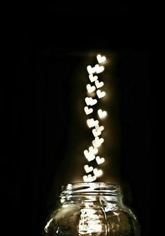 Jar of Hearts mason jar illuminating hearts Love Wallpaper, Wallpaper Backgrounds, Iphone Wallpaper, Brick Wallpaper, I Love Heart, Happy Heart, Jar Of Hearts, Jolie Photo, Heart Art