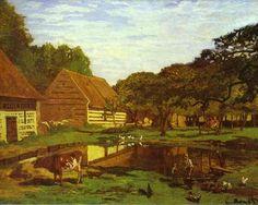 JSPuzzles - Jogue quebra-cabeças online - Claude Monet. Farm Courtyard in…