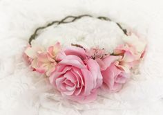 Avery in Pink Floral Crown - Ready To Ship