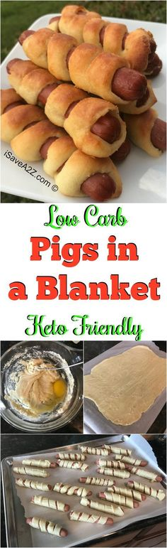 Low Carb Keto Pigs in a Blanket Recipe made with Fat Head Dough!!! via @isavea2z