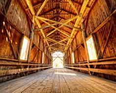 Historic Felton Covered Bridge in Felton, California