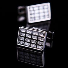 Black Crystal Inlay Cufflinks for $68.99