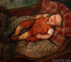 Paula Modersohn-Becker - Schlafendes Kind Paula Modersohn Becker, Figure Painting, Painting & Drawing, Female Painters, Art Japonais, Kids Sleep, Oeuvre D'art, Oeuvres, Female Art