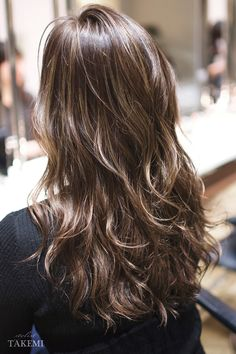 Asian Hair Waves, Ombre Hair, Wavy Hair, Permed Hairstyles, Cool Hairstyles, Hair Inspo, Hair Inspiration, Hair Arrange, Brown Blonde Hair