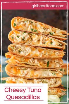 In under 30 minutes, you could be enjoying delicious seafood quesadillas! These cheesy tuna quesadillas have the flavours of a tuna melt in a yummy quesadilla form! The quesadilla filling combines ingredients, like canned tuna, plenty of cheese, pickle and crispy potato chips. With a savoury, creamy interior and crispy exterior, this quesadilla recipe is sure to be a favourite! #seafoodquesadillas #quesadillarecipe #tunaquesadillas #cheeseandtunaquesadillas #tunameltquesadillas Tuna Melt Sandwich, Tuna Melts, Tuna Melt Wrap Recipe, Seafood Dishes, Seafood Recipes, Mexican Food Recipes, Cheesy Recipes, Canned Fish Recipes, Cooking Recipes
