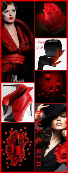 '' Black & Red '' by Reyhan S.D. Colour Pallete, Colour Schemes, Color Trends, Color Combinations, Aubergine Colour, Color Collage, Mood Colors, Color Magic, Olive Green Color