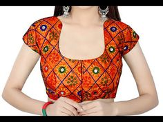 Princess cut blouse cutting and stitching easy Chudidhar Neck Designs, Neck Designs For Suits, Blouse Back Neck Designs, Sari Blouse Designs, Blouse Patterns, Princess Cut Blouse Design, Blouse Tutorial, Stitching Dresses, Baby Frocks Designs