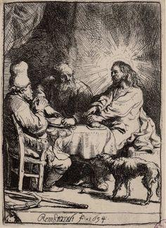 [Cristo en Emaús]. Rembrandt Harmenszoon van Rijn 1606-1669 — Grabado — 1634