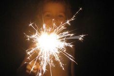 New Year's Eve with Kids #2: Set off sparklers outside at midnight! (from Simple Kids)