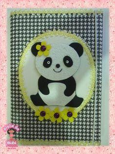 caderno decorado Panda