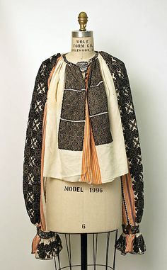 Search the Metropolitan Museum's Collection Online. Folk Fashion, Ethnic Fashion, Fashion Art, Vintage Fashion, Fashion Outfits, Bohemian Fashion, Folk Embroidery, Embroidery Stitches, Folk Costume