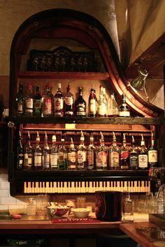 Piano as shelving