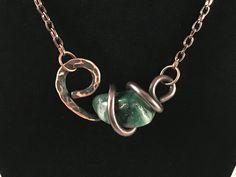 Wire Pendant, Pendant Jewelry, Jewelry Art, Beaded Jewelry, Jewellery, Copper Jewelry, Copper Necklace, Wire Jewelry Designs, Wire Wrapped Bracelet