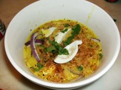 I was lucky to live in Burma for several years in the 1980s. I was even luckier to have Wah Htoo working in my home. She is the best cook of Burmese food Ive ever met. Her version of this soup is famous in Rangoon. Once a Burmese guest at our table called Wah Htoo out of the kitchen to tip her - the only way he knew to convey how impressed he was with her cooking. Of course, I never got that recipe from Wah Htoo. But after many attempts, I think even Wah Htoo would be proud of this effort…
