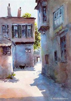 Forgotten one by one - Original Fine Art for Sale - © Mineke Reinders #watercolor jd