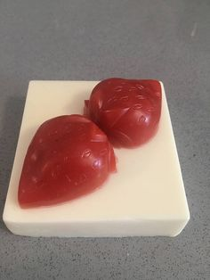 Who doesnt love strawberries and cream? This delicious soap smells good enough to eat, and is fun to use too! Scented with fruity fragrances and vanilla, this will be your new favorite soap. Perfect for bridal showers and gifts