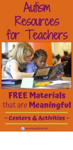 Autism Resources for Teachers- Great ideas on ELA and Math Centers or Work Systems. GREAT Freebies!