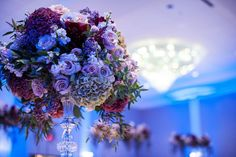 Beautiful décor in the Grand Ballroom at Piazza on the Green.