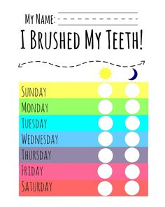 Simple Tips to a Healthy Smile with FREE PRINTABLE for brushing teeth #ad #healthysmiles | The TipToe Fairy