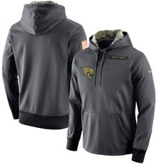 Jacksonville Jaguars Nike Salute to Service Player Performance Hoodie - Anthracite - $84.99