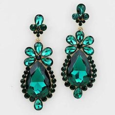 SHINE-Emerald-Green-Czech-Crystals-Vitorian-Bridal-Queen-Pageant-Prom-Earrings