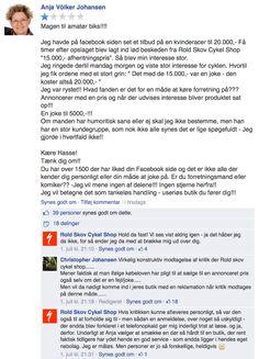 Skal vi ikke bare kalde dette et lysende eksempel på, hvordan du IKKE skal håndtere kundeservice på sociale medier. Rystende!