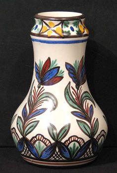 Theodor Fristad 1876-1950  Vase, Egersund Fajanse håndmalt